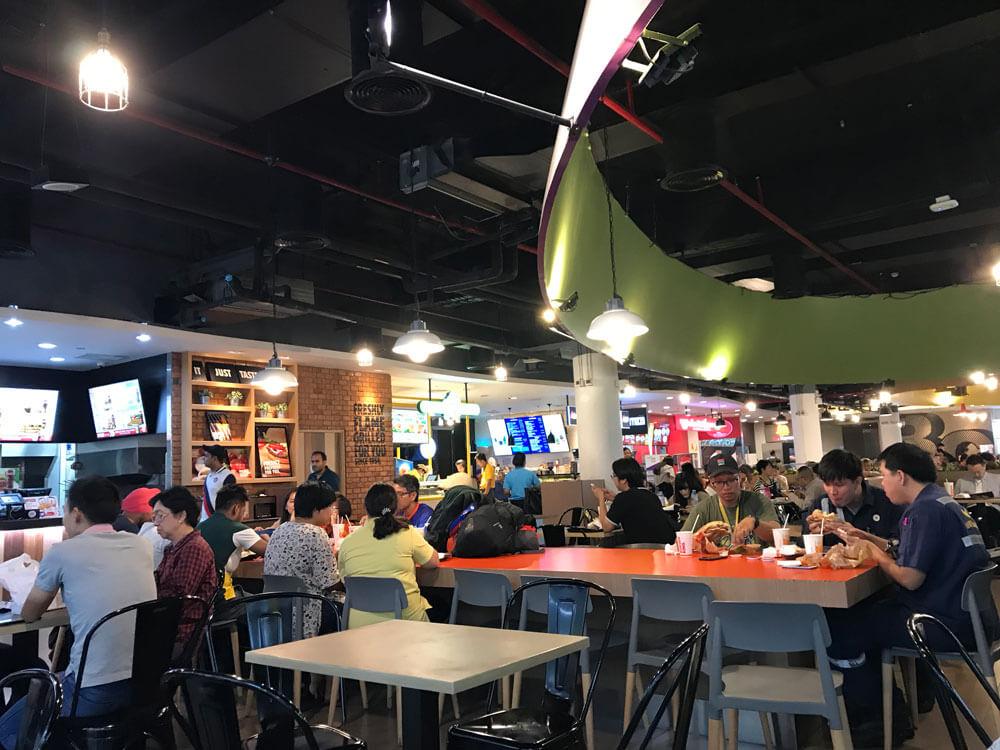 ドンムアン空港の食事はフードコート!2店舗ある