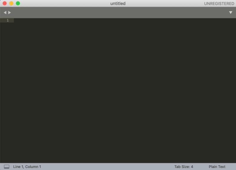 SublimeTextの画面