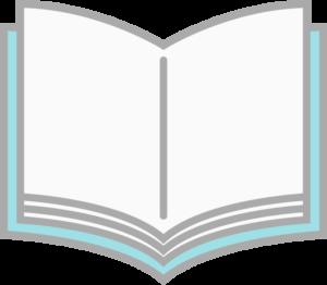 シンプルな開いた本のイラスト
