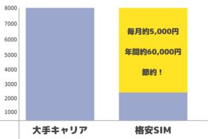 格安SIMに変えた後の支出額